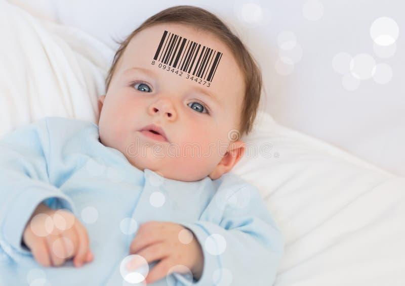 Klonu dziecko z barcode obrazy stock
