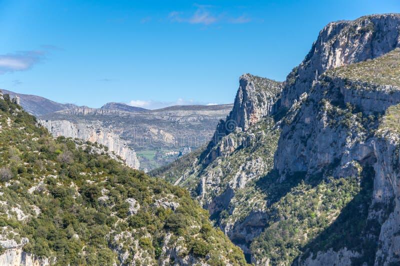 Kloof du verdon in de Provence stock afbeelding