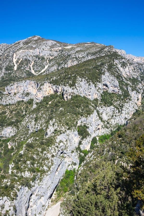 Kloof du verdon in de Provence royalty-vrije stock afbeeldingen
