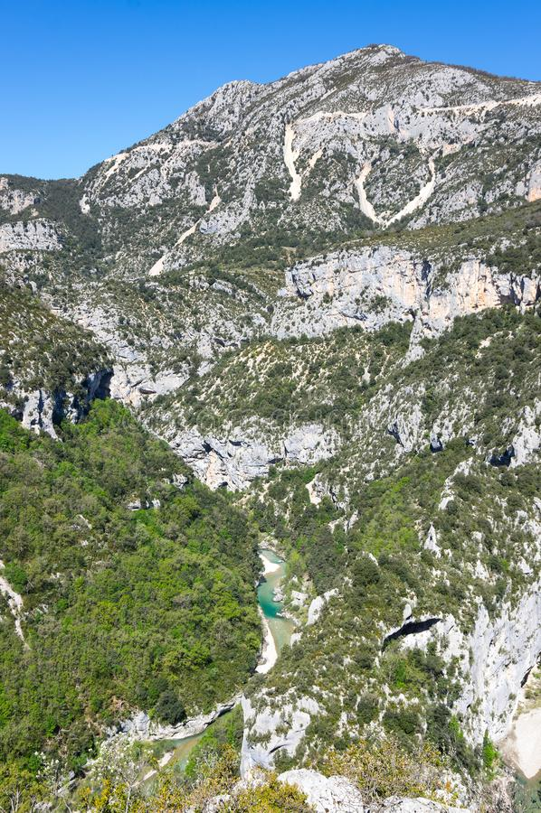 Kloof du verdon in de Provence stock fotografie