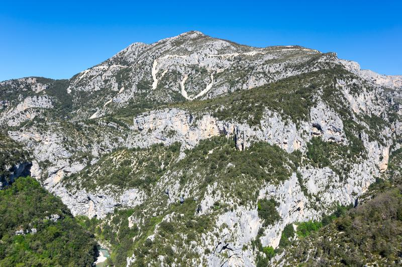 Kloof du verdon in de Provence stock afbeeldingen