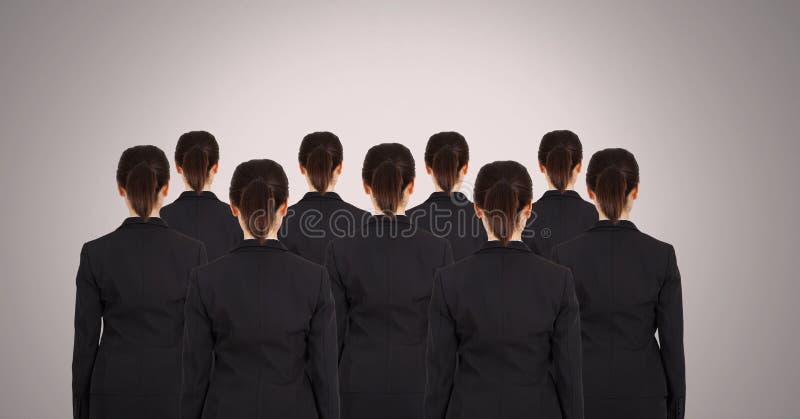 Kloonvrouwen in groep stock foto
