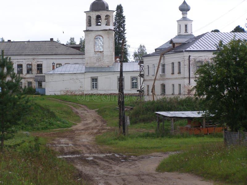Klooster artemievo-Vercolsky Orthodox overblijfsel stock afbeeldingen