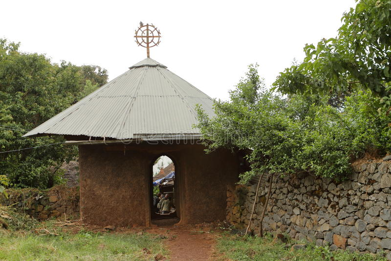 Klooster in Bahir Dar op Tana Lake in Ethiopië stock afbeeldingen