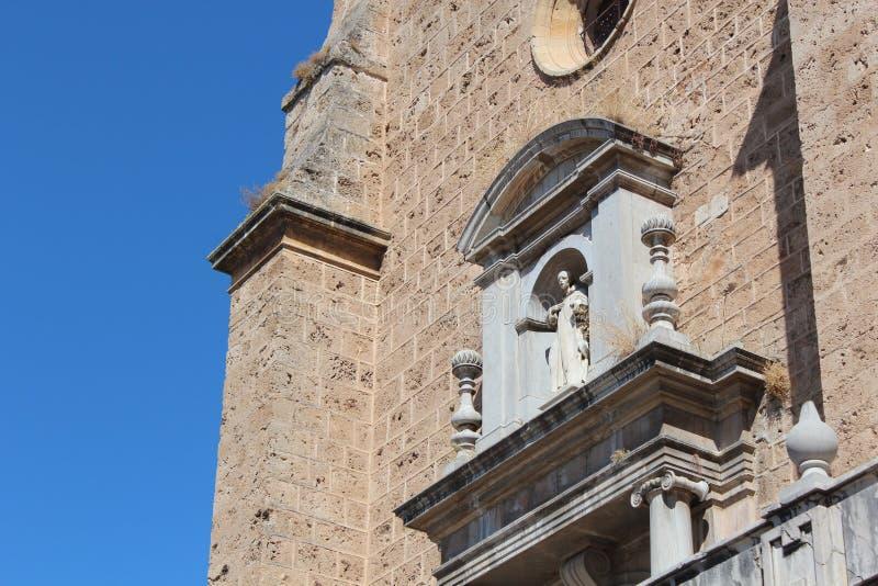 Klooster en Kerk van Heilige Jerome in Granada, Spanje royalty-vrije stock foto