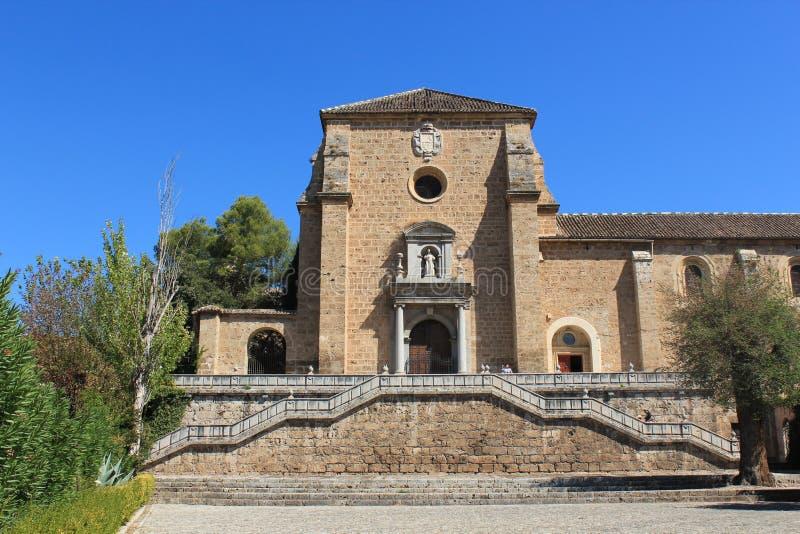 Klooster en Kerk van Heilige Jerome in Granada, Spanje stock foto's