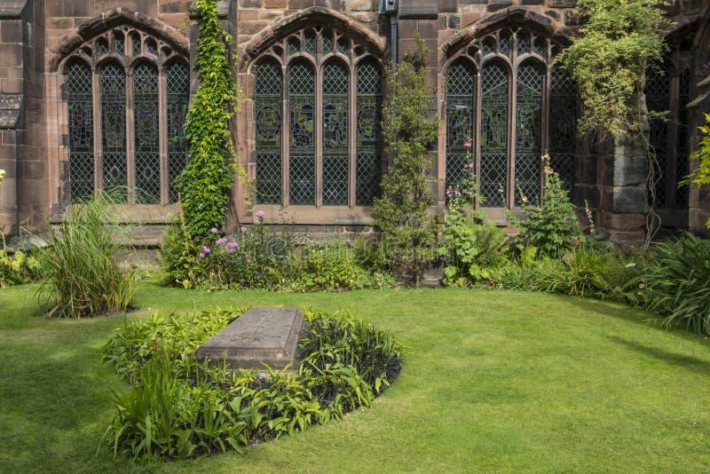 Klooster Garth Garden in Chester Cathedral royalty-vrije stock afbeeldingen