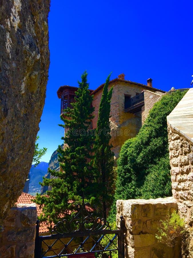 Klooster in Griekse bergen royalty-vrije stock afbeeldingen