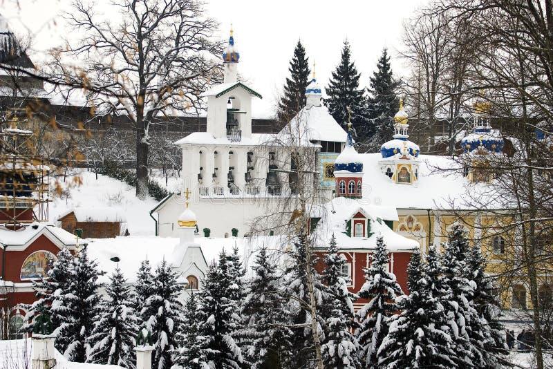 klooster in het gebied Rusland van Pskov royalty-vrije stock foto's