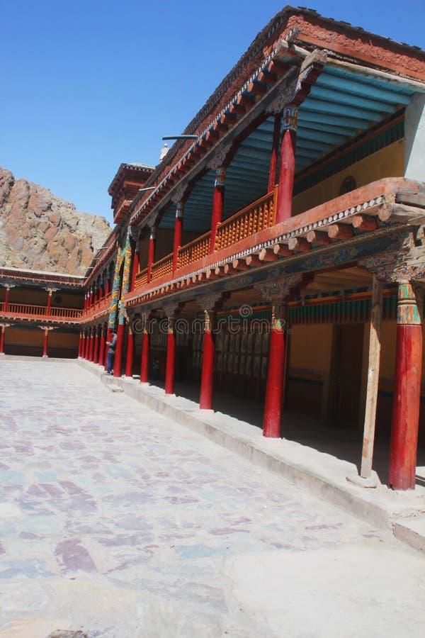 Klooster, Himalayagebergte stock foto