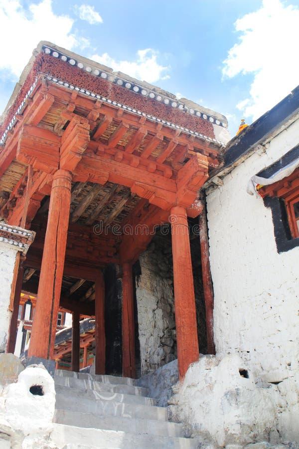 Klooster, Himalayagebergte royalty-vrije stock afbeeldingen