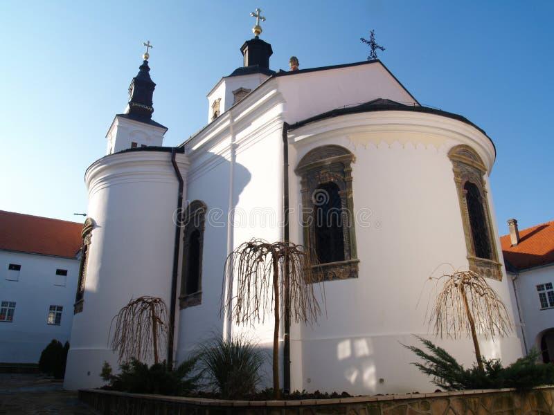 Klooster Krusedol in Servië stock foto's