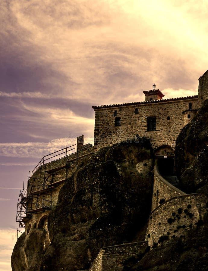 Klooster in Meteora, Griekenland royalty-vrije stock afbeelding