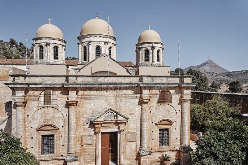 Klooster op het Eiland Kreta stock fotografie