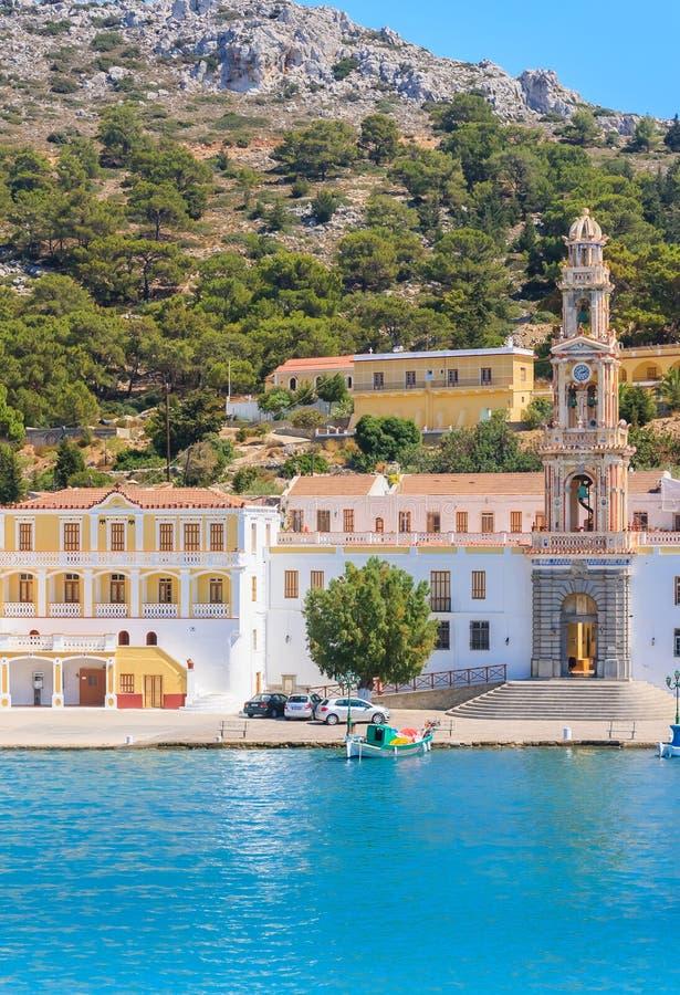 Download Klooster Panormitis Het Eiland Van Symi Stock Afbeelding - Afbeelding bestaande uit reis, griekenland: 54083383
