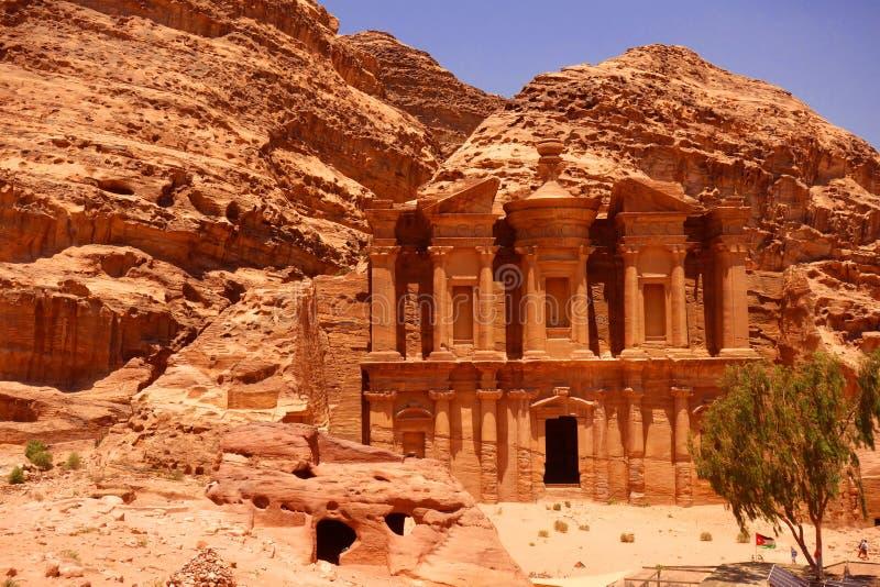 Klooster in Petra Jordan stock fotografie