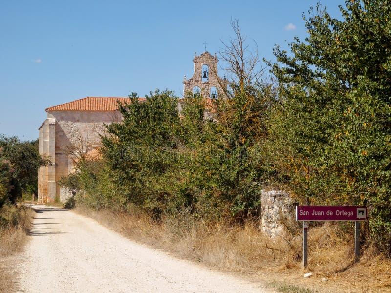 Klooster - San Juan de Ortega stock afbeelding