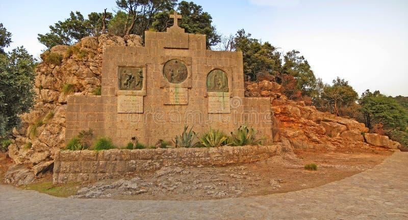 Klooster Santuari DE Santa Maria de Lluc, Majorca, Spanje royalty-vrije stock foto