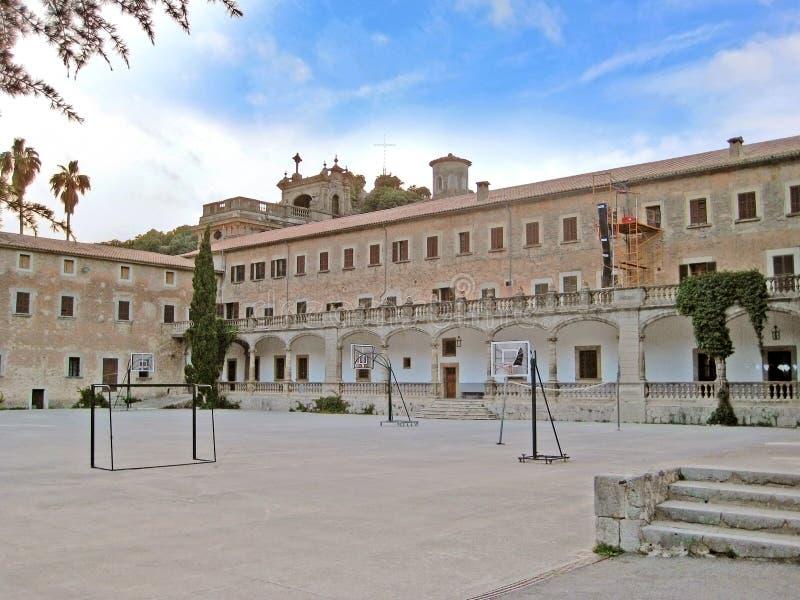 Klooster Santuari DE Santa Maria de Lluc, Majorca, Spanje stock afbeelding