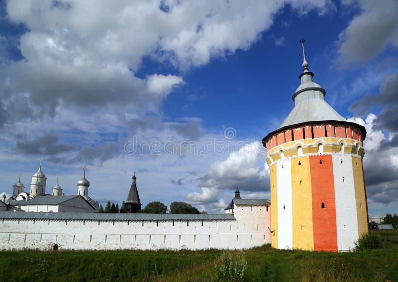Klooster spaso-Prilutsky in Vologda stock foto