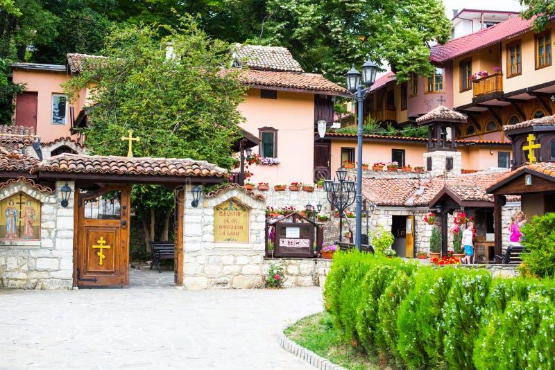 Klooster StSt Constantine en Helena dichtbij Varna, Bulgarije stock fotografie