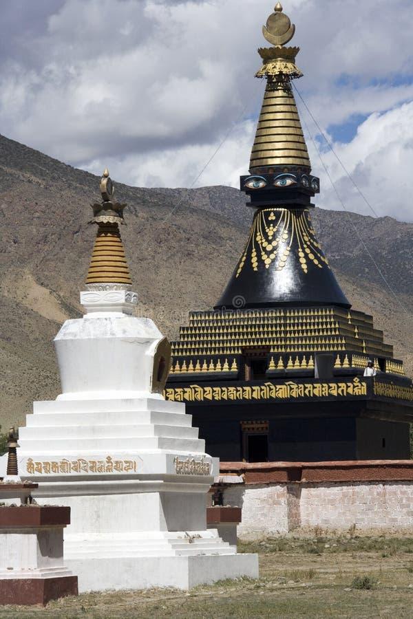 Klooster Tibet - Samye stock afbeeldingen