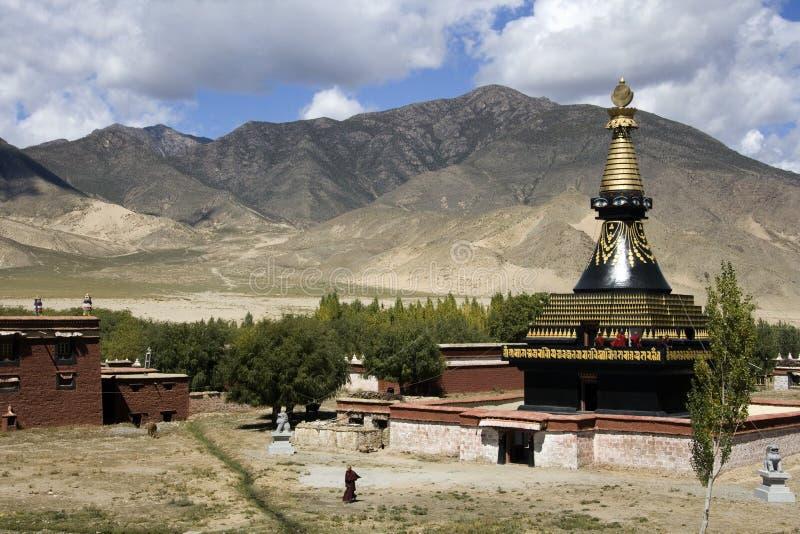 Klooster Tibet - Samye - Tsetang royalty-vrije stock fotografie