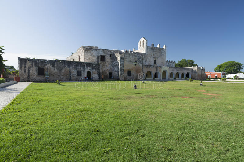 Klooster in Valladolid, Mexico stock afbeeldingen