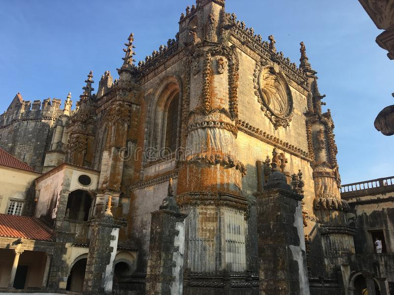 Klooster van Christus, Tomar, Portugal royalty-vrije stock foto