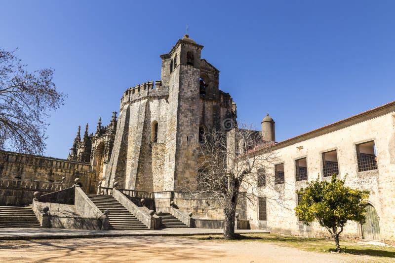 Klooster van Christus, Tomar, Portugal stock foto
