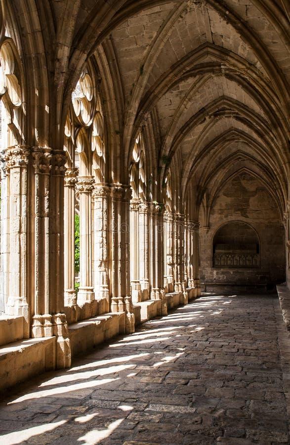 Klooster van Cisterciënzer klooster van Santes Creus, Catalonië, Spanje royalty-vrije stock foto