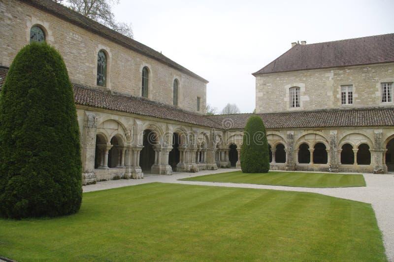 Klooster van de Abdij van Fontenay royalty-vrije stock foto