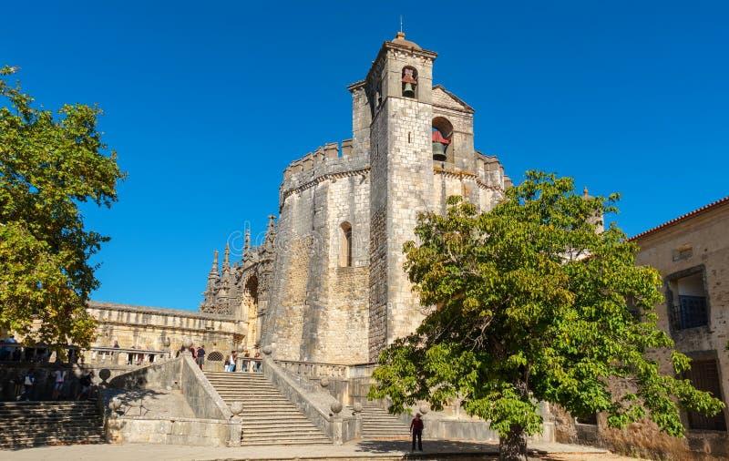 Klooster van de Orde van Christus Tomar, Portugal stock foto