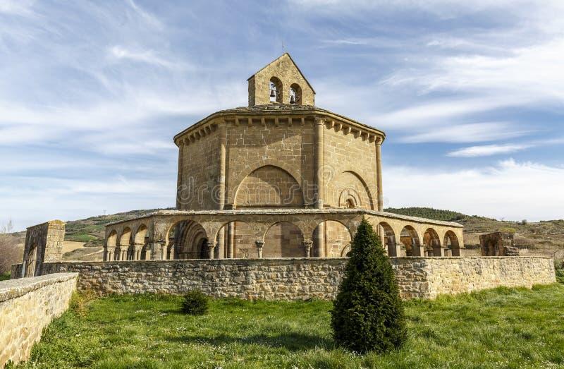 Klooster van eunate royalty-vrije stock foto's