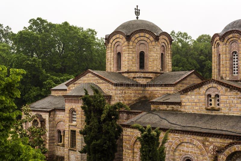 Klooster van Heilige Dionysios van Olympus royalty-vrije stock afbeeldingen