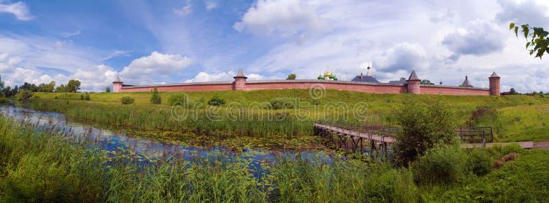 Klooster van Heilige Euthymius, Oriëntatiepunt van Suzdal, Rusland royalty-vrije stock afbeeldingen