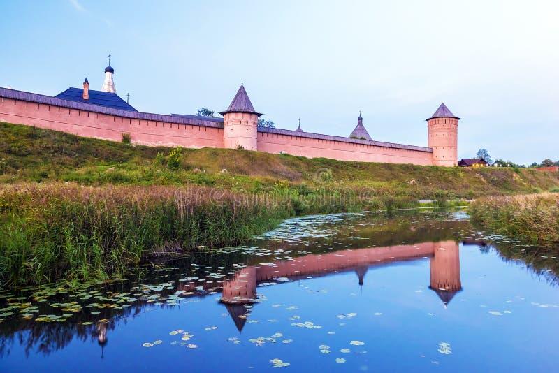 Klooster van Heilige Euthymius in Suzdal Gouden ring van Rusland royalty-vrije stock afbeeldingen