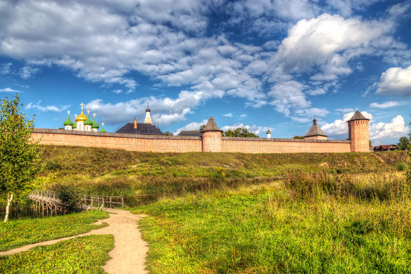 Klooster van Heilige Euthymius Suzdal, Rusland royalty-vrije stock foto's
