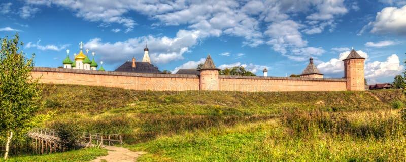 Klooster van Heilige Euthymius Suzdal, Rusland stock foto's