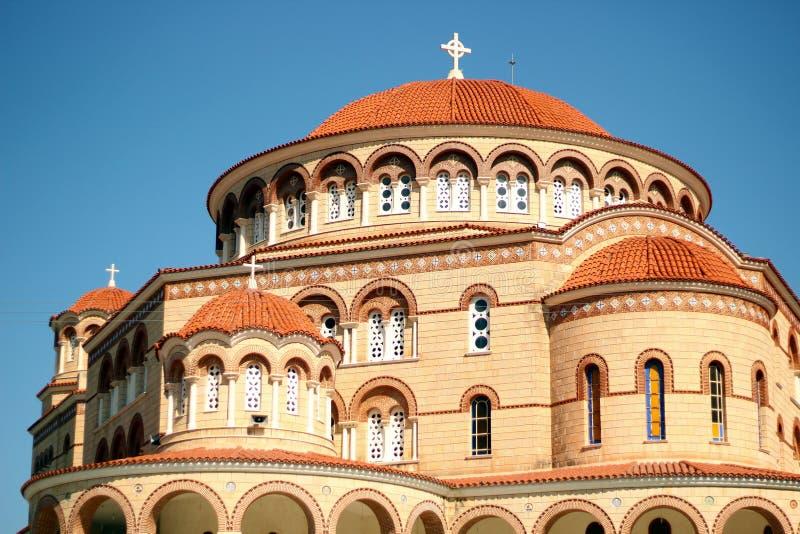 Klooster van Heilige Nectarios Aegina stock foto's
