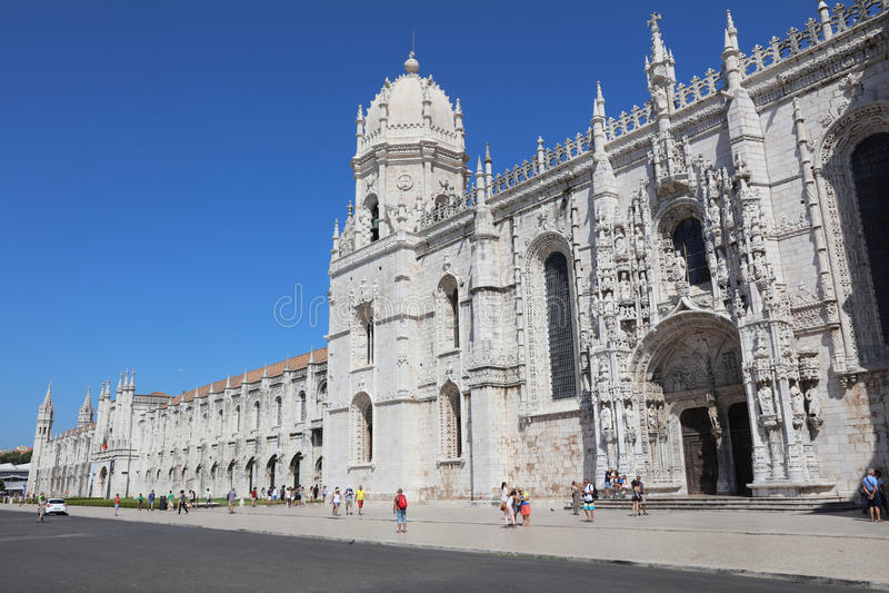 Klooster van Hieronymites lissabon stock fotografie