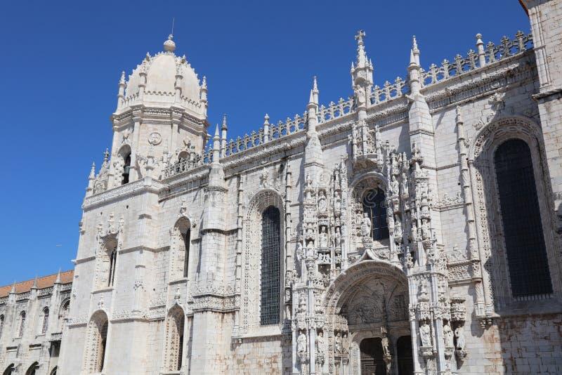 Klooster van Hieronymites lissabon royalty-vrije stock foto's