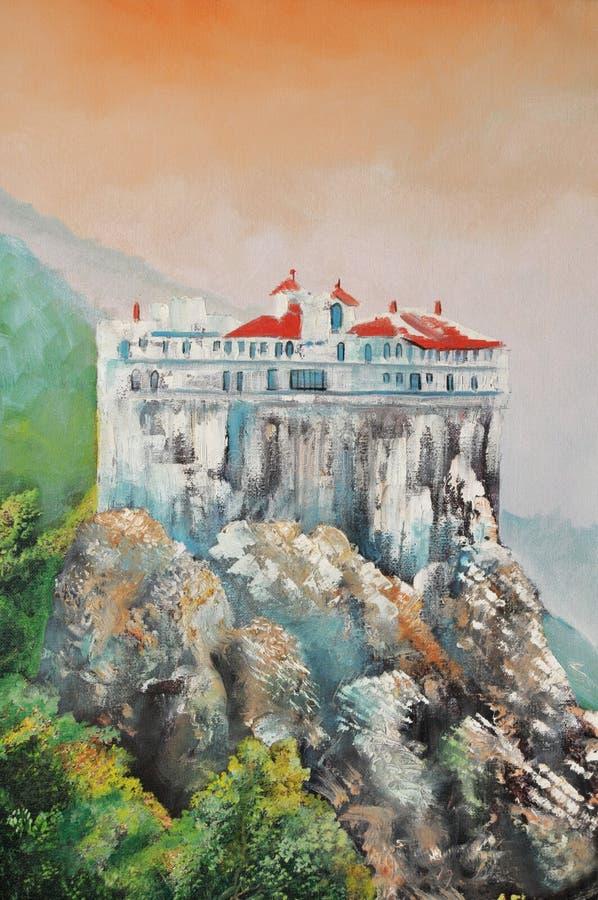 Klooster van Hilandar vector illustratie