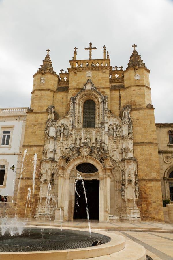 Klooster van Kerstman Cruz, Coimbra, Portugal stock afbeeldingen