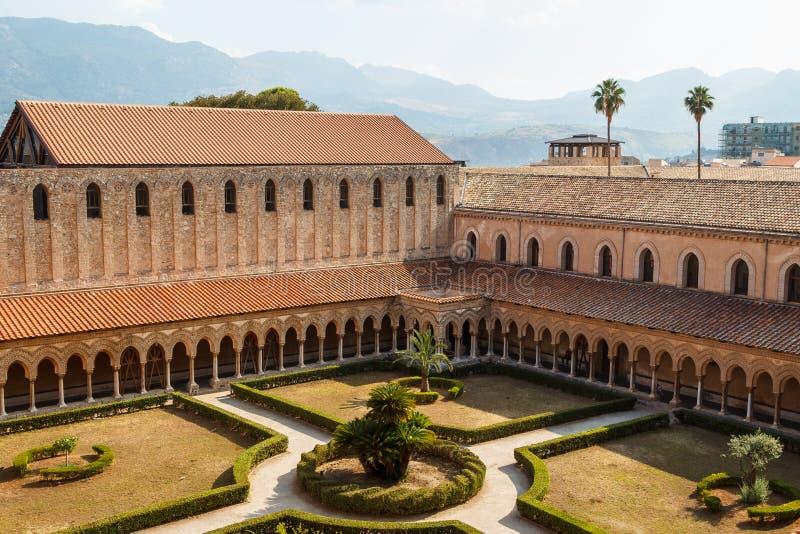 Klooster van Monreale-kathedraal, Sicilië royalty-vrije stock afbeeldingen