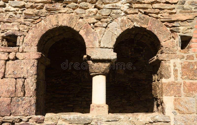Klooster van Oude romanesque klooster laat achtste eeuw Sant royalty-vrije stock foto's