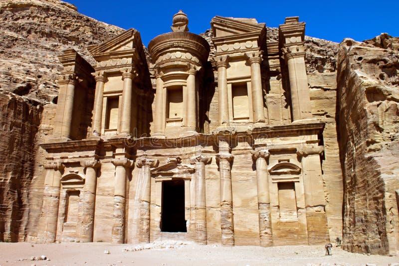 Klooster van Petra stock foto's