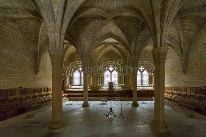 Klooster van Poblet, Tarragona, Spanje stock afbeelding