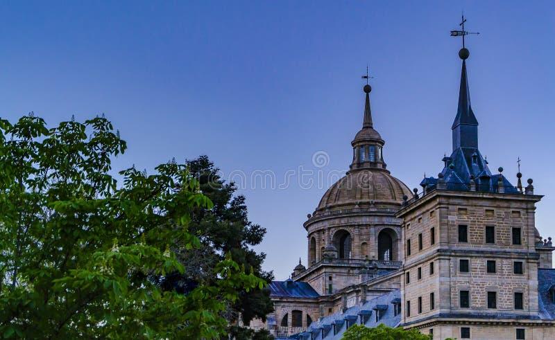 Klooster van San Lorenzo de El Escorial Madrid, Spanje stock foto's