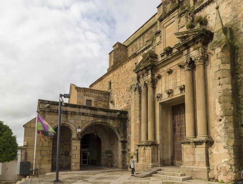 Klooster van San Vicente Ferrer, momenteel Nationale Parador stock foto